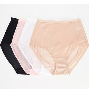 Breezies~Set of 4~100% Nylon Full-Brief Panties
